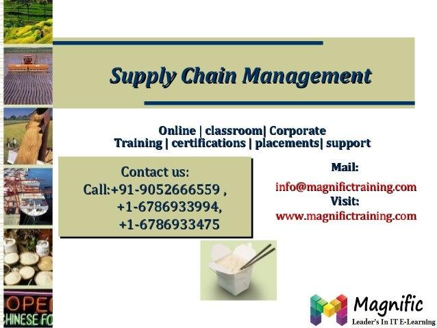Sap supply chain management training online