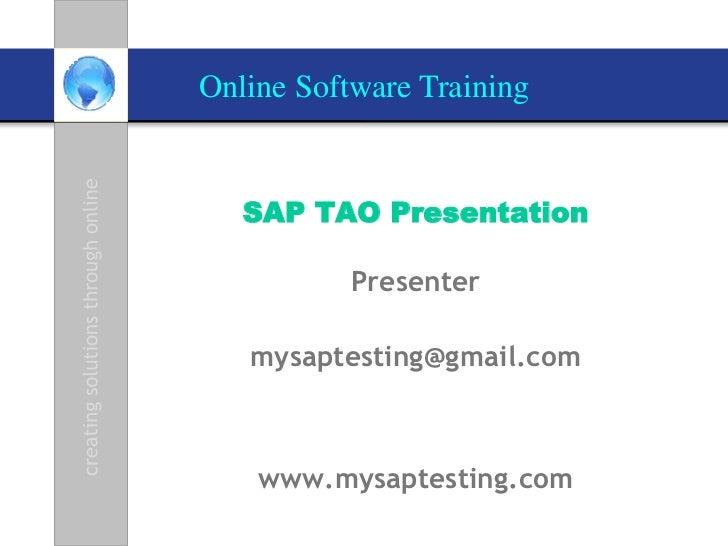 SAP TAO 2.0