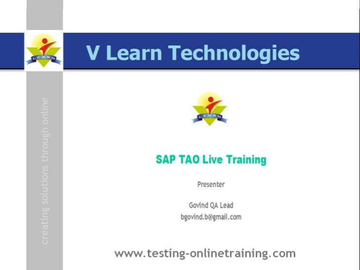 HP ALM, HP QC 11,QC 11, Quality Center 11, SAP TAO, SAP TAO 3.0, SAP TAO 4.0, SAP Testing, SAP ERP Testing