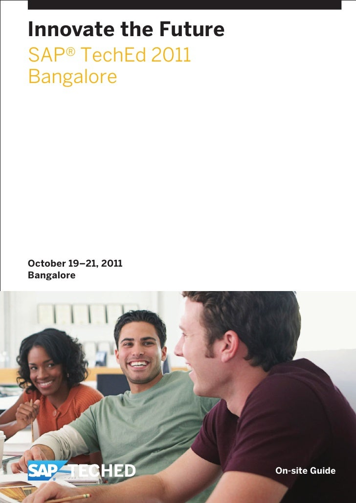 SAP TechEd Bangalore Onsite Guide 2011