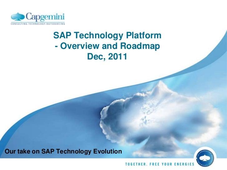 SAP technology roadmap- 2012 Update