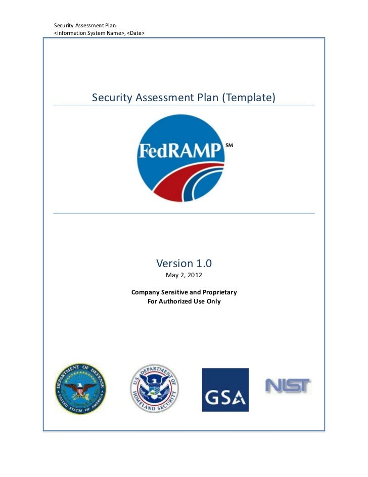 Security Assessment Plan<Information System Name>, <Date>             Security Assessment Plan (Template)                 ...