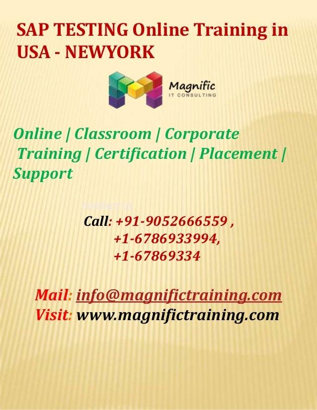 Sap testing online training in usa   newyork