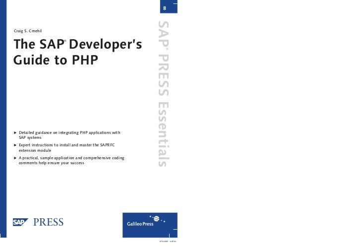 8                                                             SAP PRESS EssentialsCraig S. CmehilThe SAP Developer's      ...