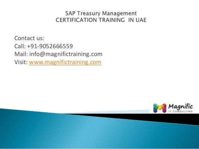 Sap treasury management  certification training  in uae@www.magnifictraining.com