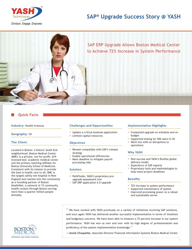 SAP ERP Upgrade Allows Boston Medical Center to Achieve 72% Increase in System Performance