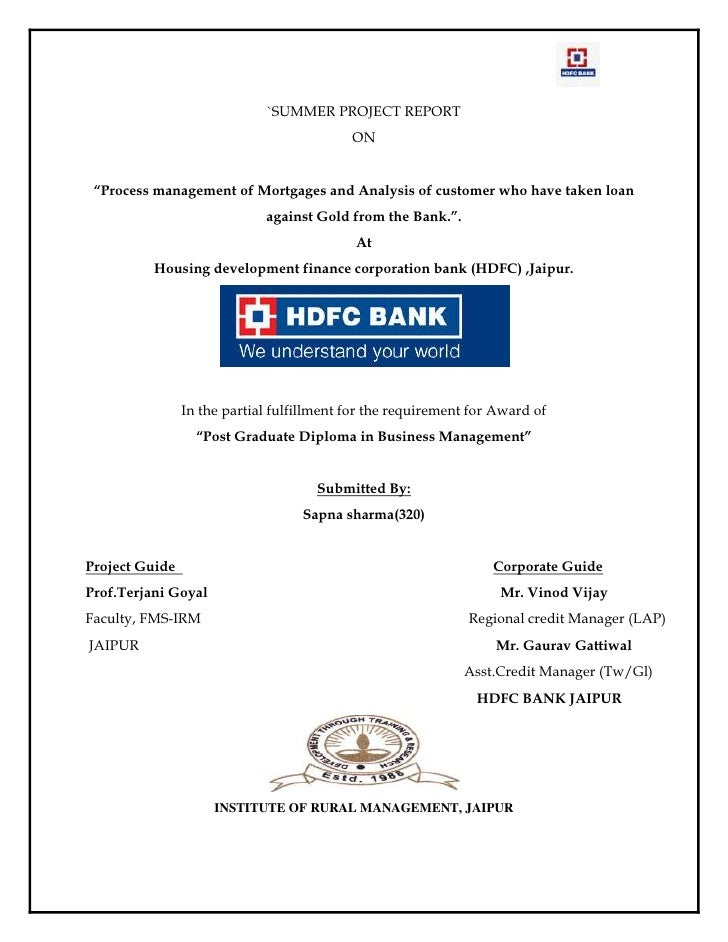 customer satisfaction project report of hdfc bank Customer satisfaction level in hdfc bank  hdfc bank project report abhishek keshri a study on customer satisfaction in icici bank prateek gahlot .
