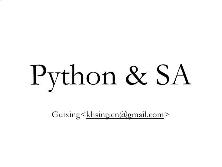 Python and sysadmin I