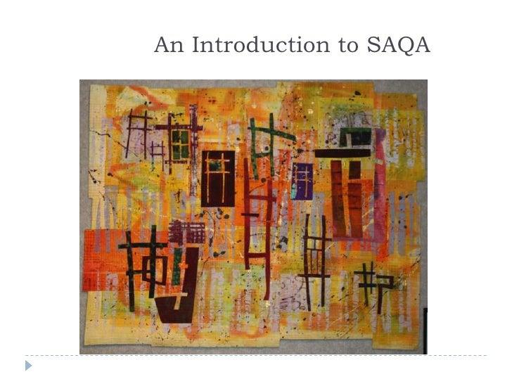 An Introduction to SAQA<br />
