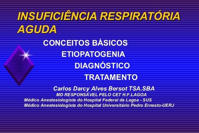 INSUFICIÊNCIA RESPIRATÓRIAAGUDA         CONCEITOS BÁSICOS            ETIOPATOGENIA               DIAGNÓSTICO              ...