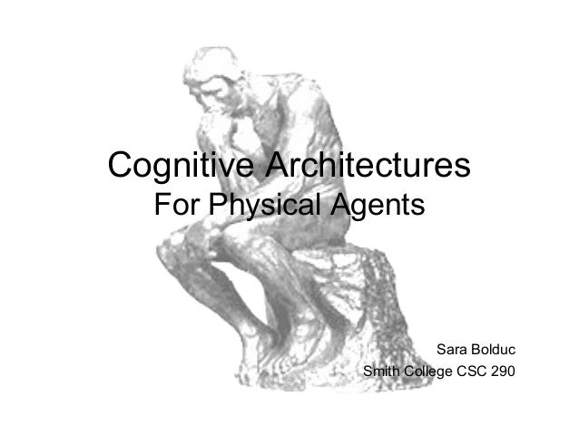 Cognitive Architectures  For Physical Agents                           Sara Bolduc                Smith College CSC 290