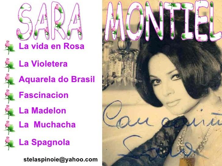 SARA  MONTIEL La vida en Rosa La Violetera Aquarela do Brasil Fascinacion La Madelon La  Muchacha La Spagnola [email_addre...