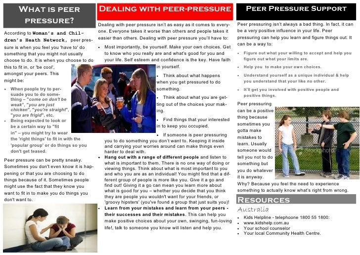 What is peer                         Dealing with peer-pressure                                              Peer Pressure...