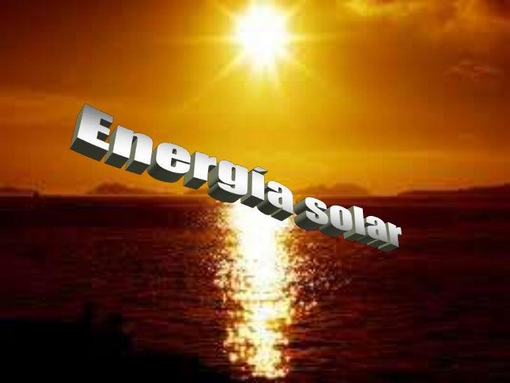Energía solar<br />