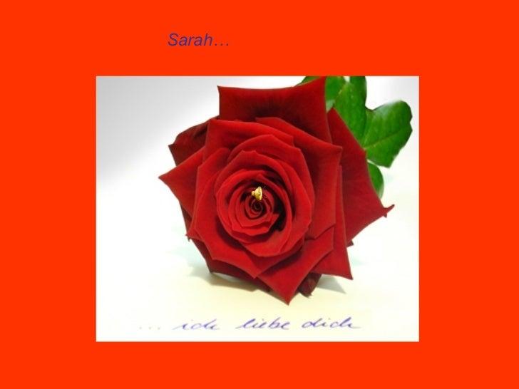 Sarah…