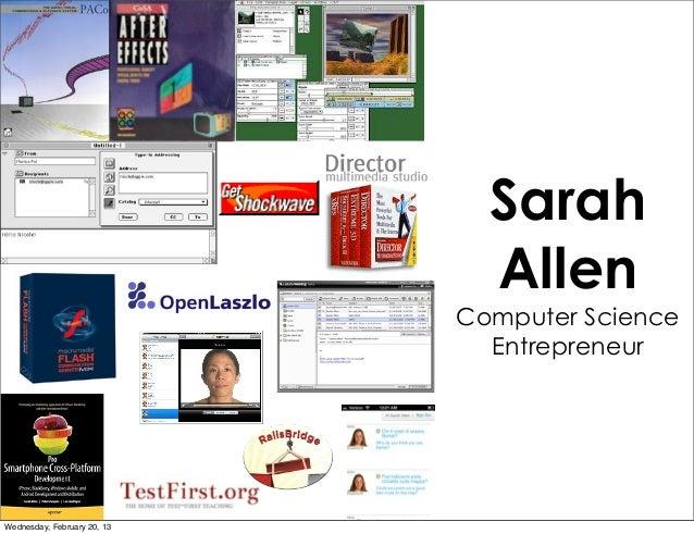 Sarah Allen Computer Science Entrepreneur