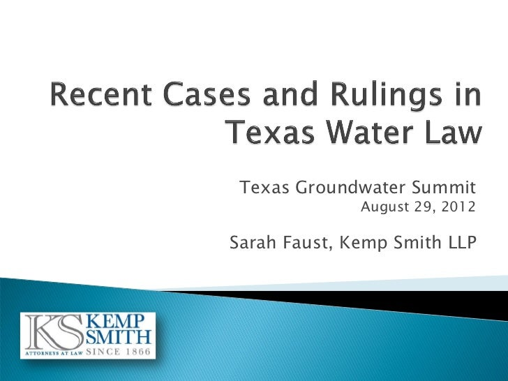 Case Law Update, Sarah Faust