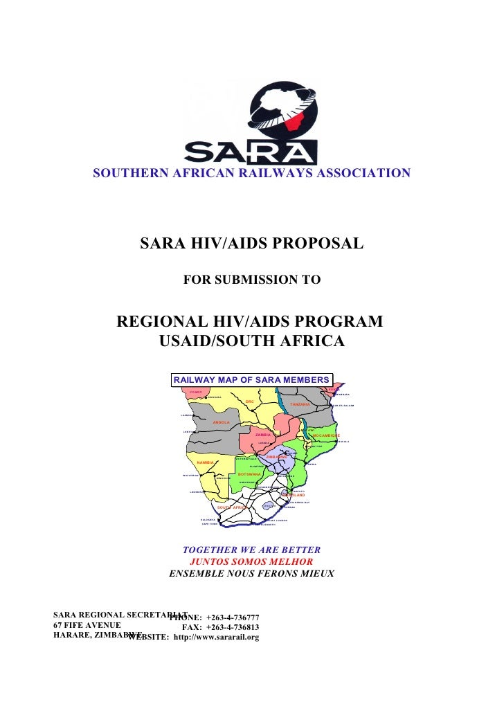 SOUTHERN AFRICAN RAILWAYS ASSOCIATION                        SARA HIV/AIDS PROPOSAL                                FOR SUB...