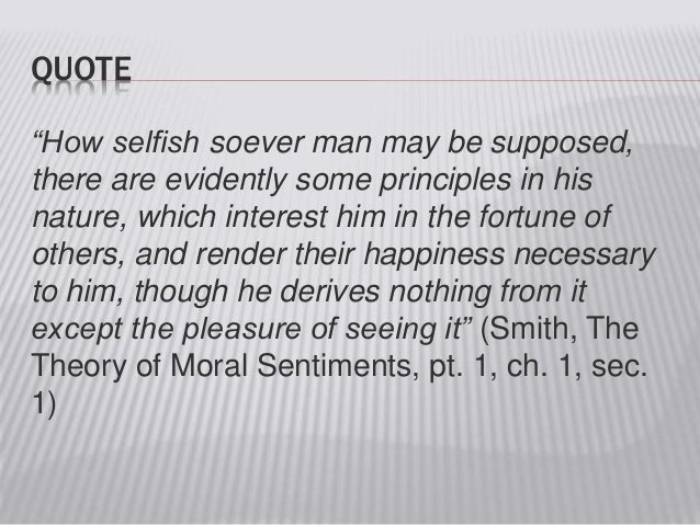 Adam smith moral sentiments summary