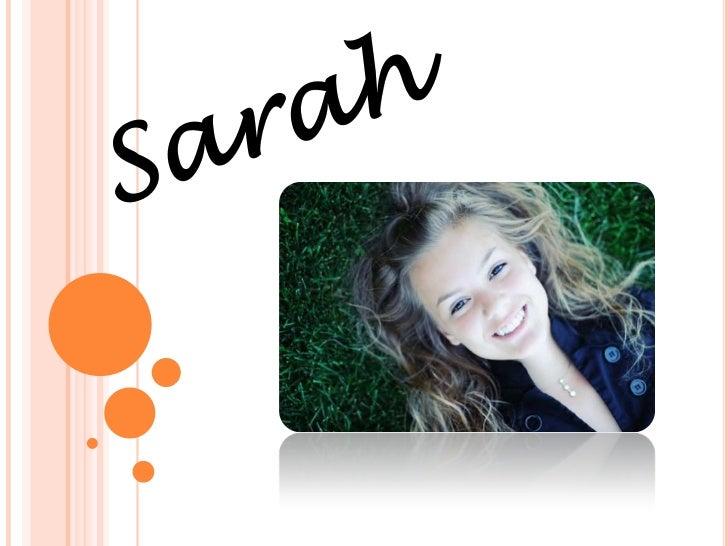 Sarah<br />