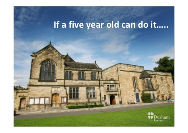 If a five year old can do it…..