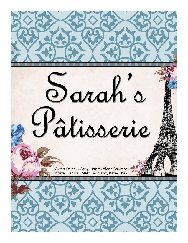 Sarah's Patisserie PR Plan