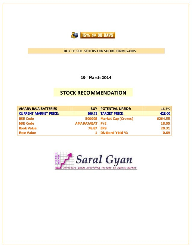 Saral Gyan 15% @ 90 Days - March 2014