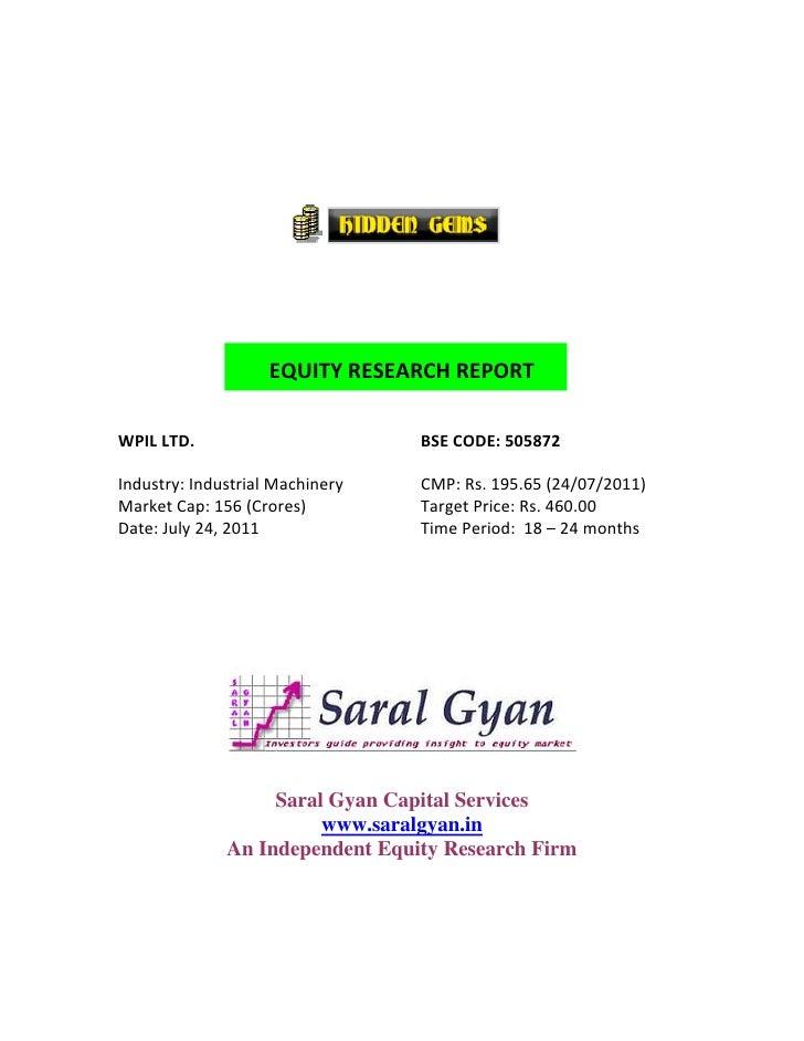Saral Gyan Hidden Gem - July 2011