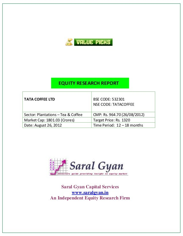 Saral Gyan Value Pick - Aug 2012