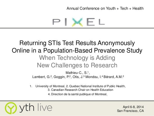 Returning STIs Test Results Anonymously Online