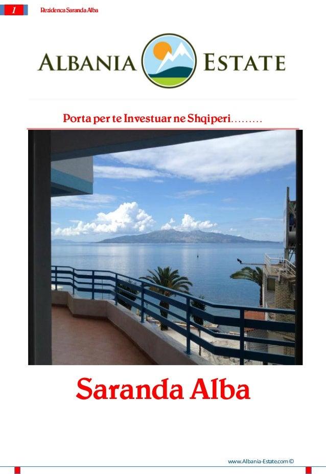 Apartamente per shitje ne Saranda. Rezidenca Saranda Alba