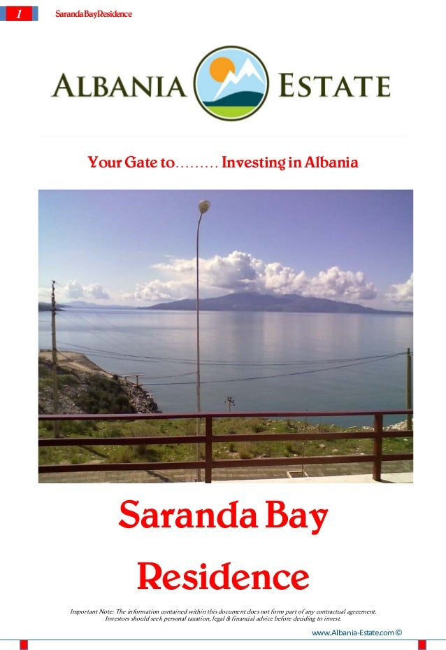 Apartments for sale in Saranda Albania - Saranda Bay Residence