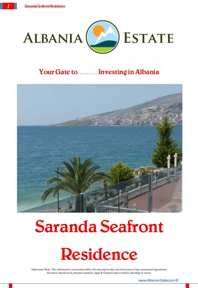 Saranda Apartments for Sale. Saranda Seafront Residence