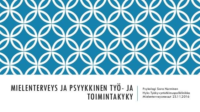 mielenterveys ja päihdetyön osaamisala Loimaa