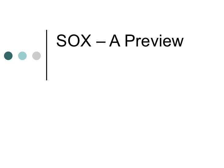 thesis on sox