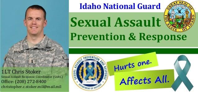 Sexual Assault Prevention & Response Hurts one. Idaho National Guard 1LT Chris Stoker Sexual Assault Response Coordinator ...