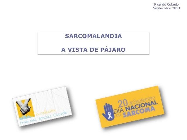 """""""Sarcomalandia a vista de pájaro"""" por el Dr. Ricardo Cubedo"""