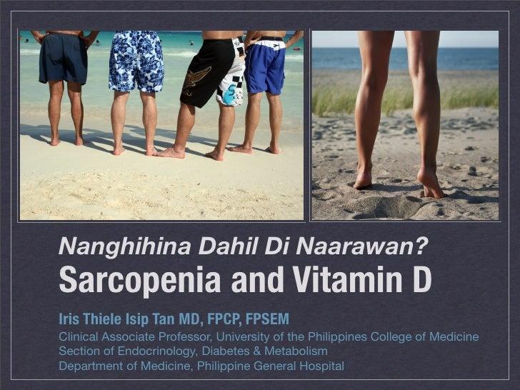 Sarcopenia and Vitamin D