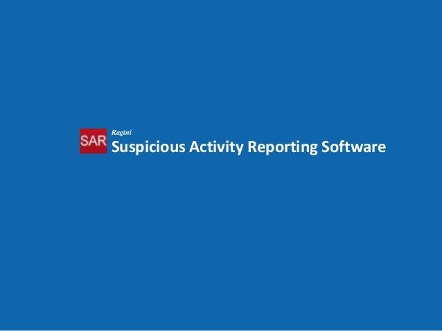 Suspicious Activity Reporting (SARv1) Solution