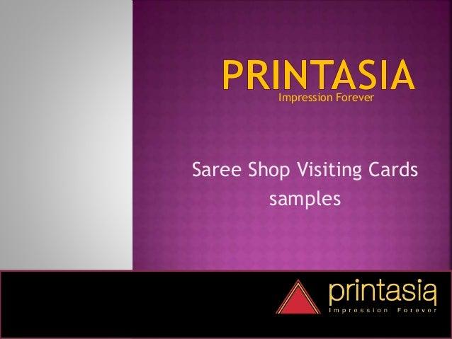 Saree shop business and visiting cards | Printasia.in