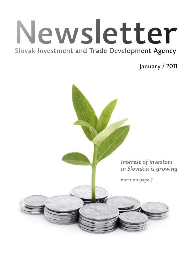 NewsletterSlovak Investment and Trade Development Agency                                      January / 2011              ...