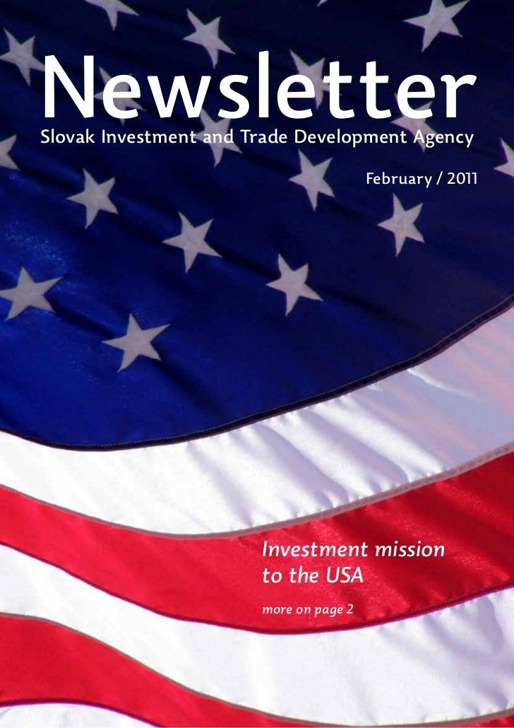 NewsletterSlovak Investment and Trade Development Agency                                        February / 2011           ...