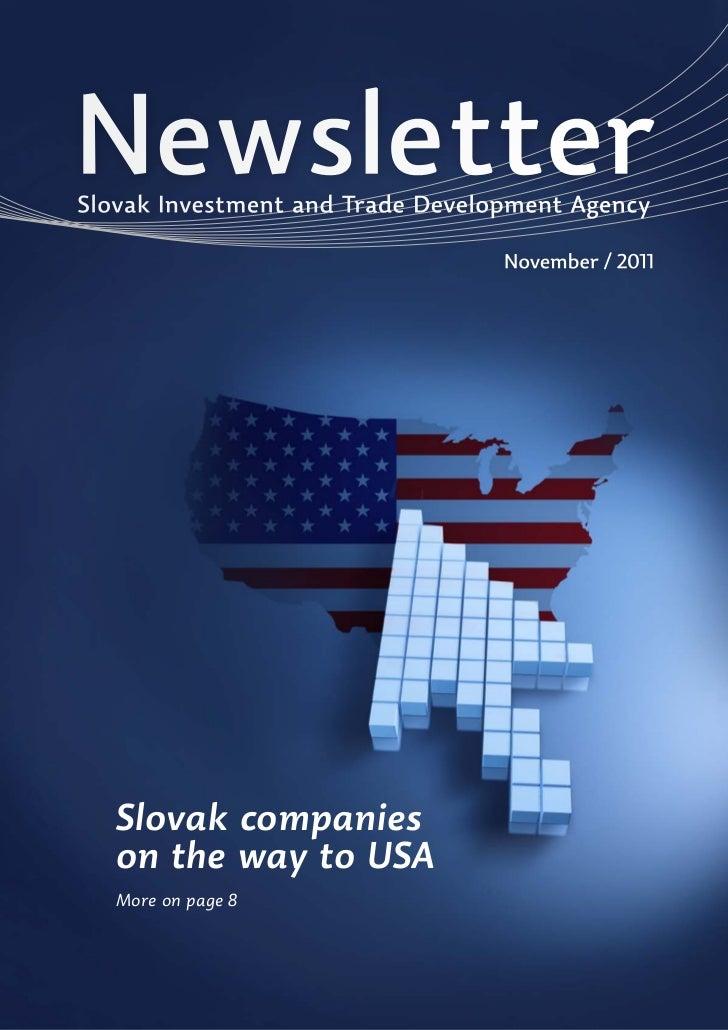 NewsletterSlovak Investment and Trade Development Agency                                  November / 2011   Slovak compani...