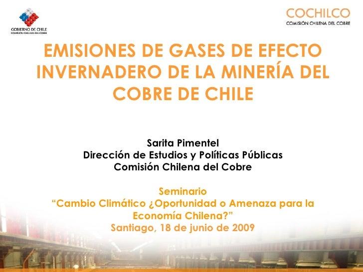 Emisiones de Gases de Efecto Invernadero de la Minería del Cobre de Chile