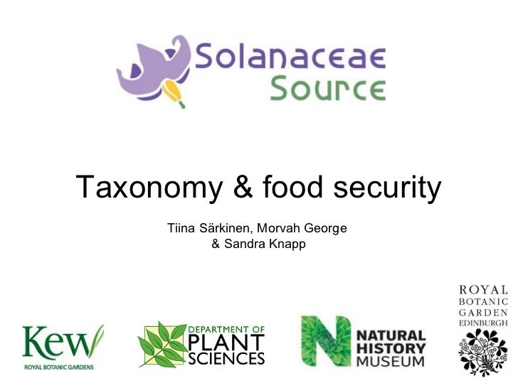 Taxonomy & food security