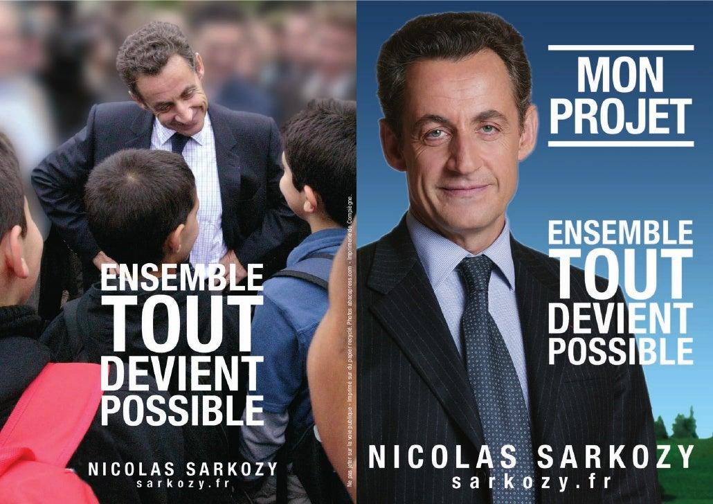 """Sarkozy """"mon projet"""" Ensemble tout devient possible"""