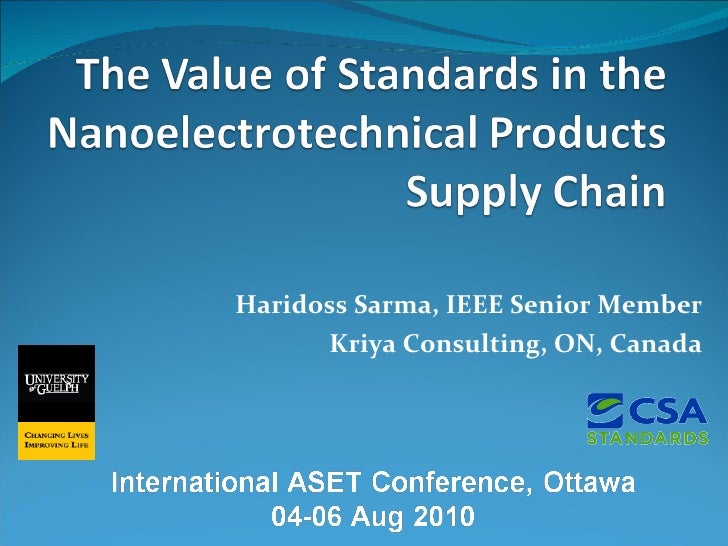 Sarma   The Value Of Standards