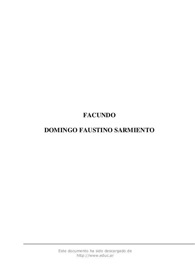 Este documento ha sido descargado dehttp://www.educ.arFACUNDODOMINGO FAUSTINO SARMIENTO