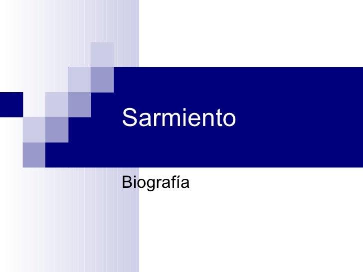 Sarmiento Biografía
