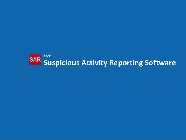Suspicious Activity Reporting (SARv2) Solution